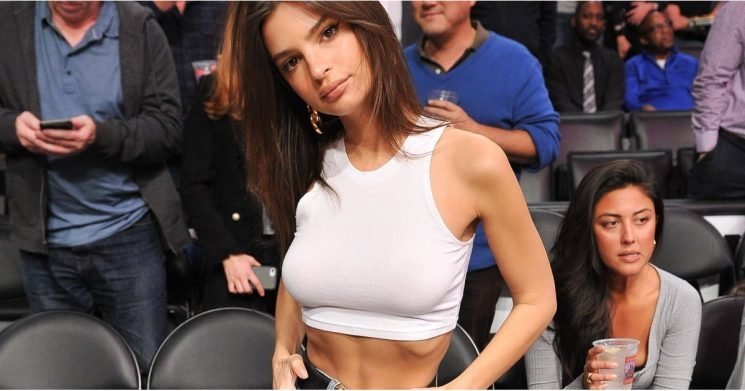 If the LA Lakers Are Sweating, It Might Have to Do With Emily Ratajkowski's Courtside Shoes
