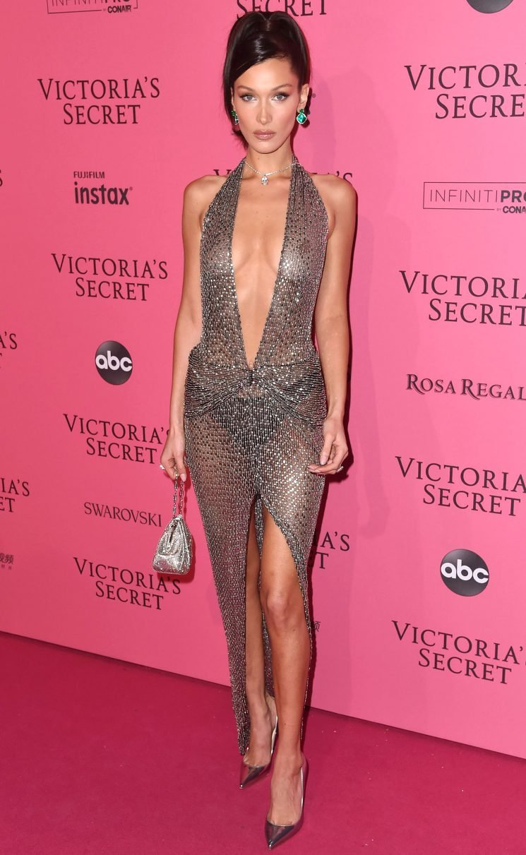 Who Needs a Bra? Bella Hadid Frees the Nipple in Two Sheer Dresses Post Victoria's Secret Fashion Show