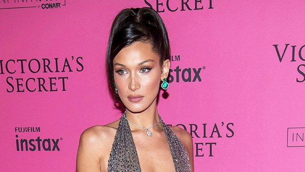 Bella Hadid Flaunts Nipples In Sheer Dress With Deep Plunging Neckline At VS After-Party