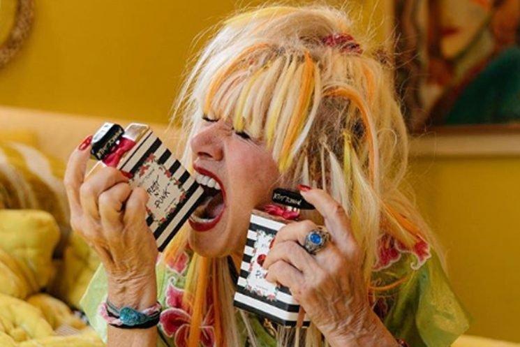 Betsey Johnson bathes in perfume