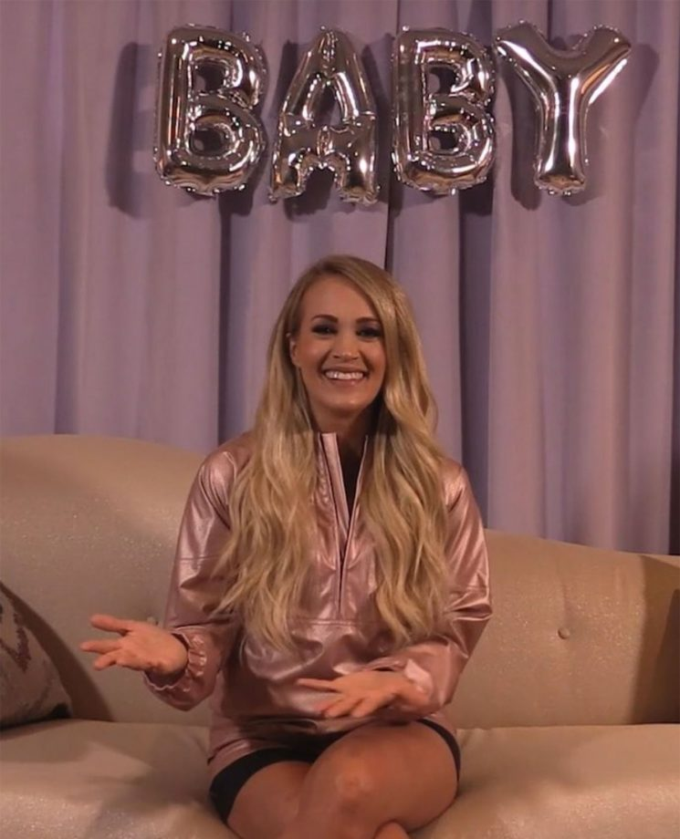 We Found It: The Snazzy Pink Jacket Carrie Underwood Wore in Her Pregnancy Announcement Video