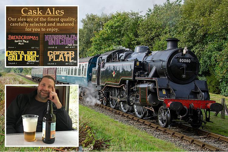 All aboard for a heady mix of history and hops on one of the East Lancashire Railway's regular Rail Ale Trails