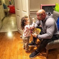 Dwayne Johnson Adorably Allows Daughter, 2, to Paint His Face: 'This Is the Stuff I Actually Love'