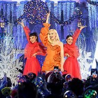 Gwen Stefani Stuns In Gorgeous Red Dress For Disney's Magical Holiday Celebration