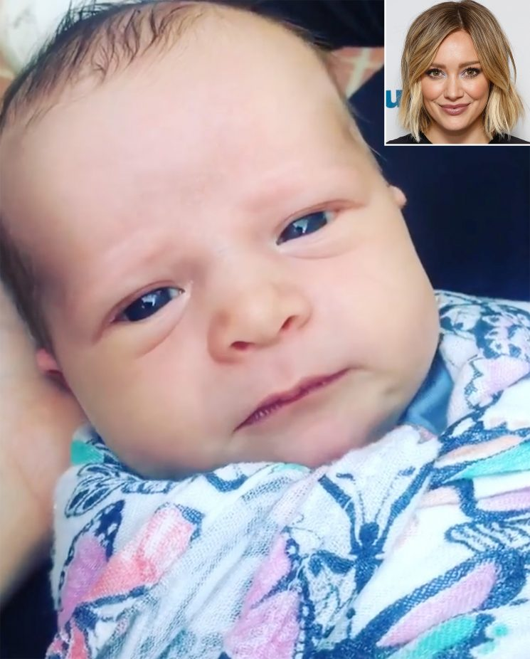 Hilary Duff Celebrates Daughter Banks Violet Turning 1-Week-Old by Sharing Adorable Hiccup Video