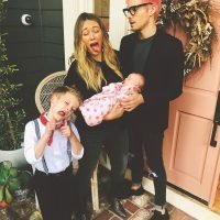 Hilary Duff Jokes Newborn Daughter Banks Needs to 'Try Harder' in Fun Family Photo
