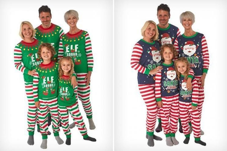 B&M has launched matching elf and Santa Christmas pyjamas for the whole family