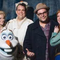 Josh Gad Stops By 'Frozen' Broadway Performance in NYC!