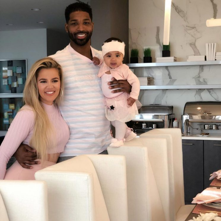Tristan Thompson Poses with 'Family' Khloé Kardashian and True: 'I'm Soo Blessed'