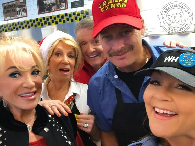 Waffle House Christmas! Kid Rock, Gretchen Wilson and Tanya Tucker Join Bill Anderson for Video