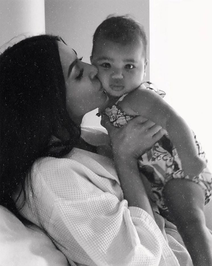 Kim Kardashian Snuggles with Niece True as Khloé Says, 'I Just Left with the Clothes On My Back'