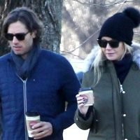 Gwyneth Paltrow & Brad Falchuk Go On a Coffee Run in the Hamptons