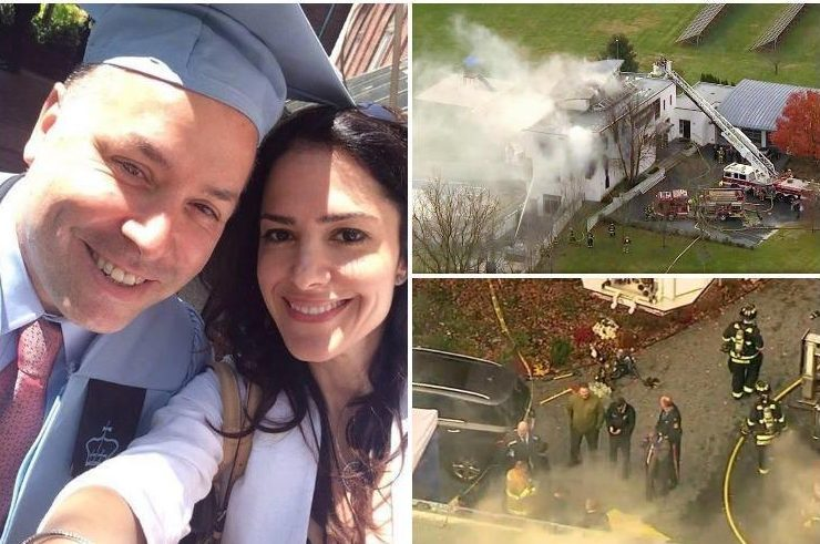 Mum and two kids killed in £1m New Jersey mansion fire as tech boss dad found shot dead outside