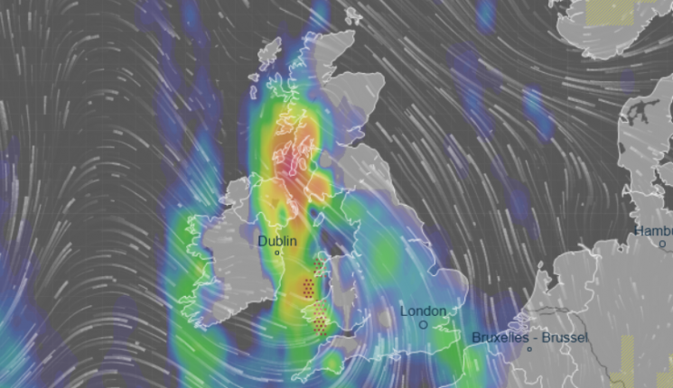 Major flooding fears as huge 'pressure vortex' hits UK – see how you're affected by weather forecast