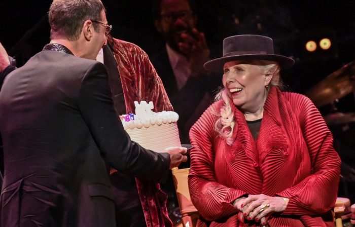 Joni Mitchell Blows Out 75th Birthday Candles as Starry Tribute Cast Blows Kisses