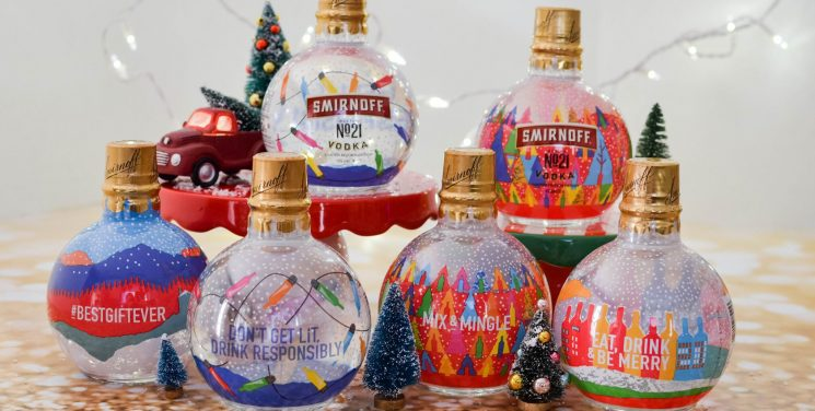 These Oversized Vodka-Filled Ornament Bottles Will Make You As Lit As Your Christmas Tree