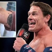 John Cena seems to accidentally reveal new tattoo while tucking into his favourite Chinese sauce