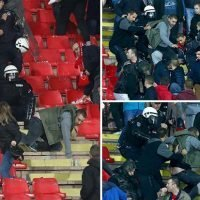 Red Star fans clash with cops in stands ahead of Liverpool match as tensions rise in Champions League