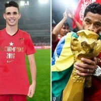 Oscar and Hulk celebrate as Shanghai SIPG win first Chinese Super League title
