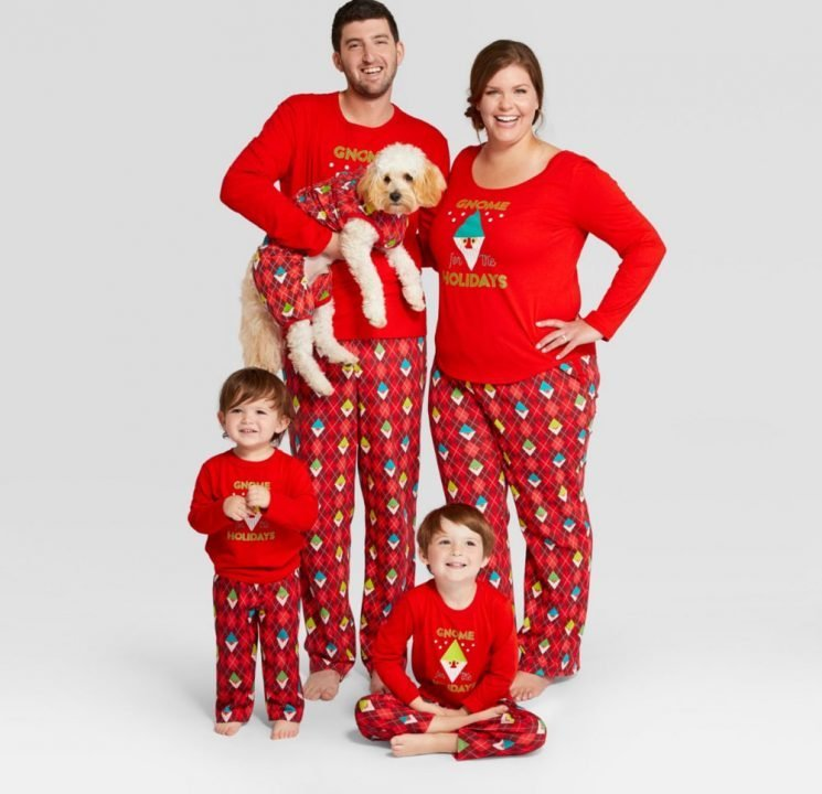 Target Has Matching Holiday Pajamas Sets for Your Entire Family, Including Your Dog!