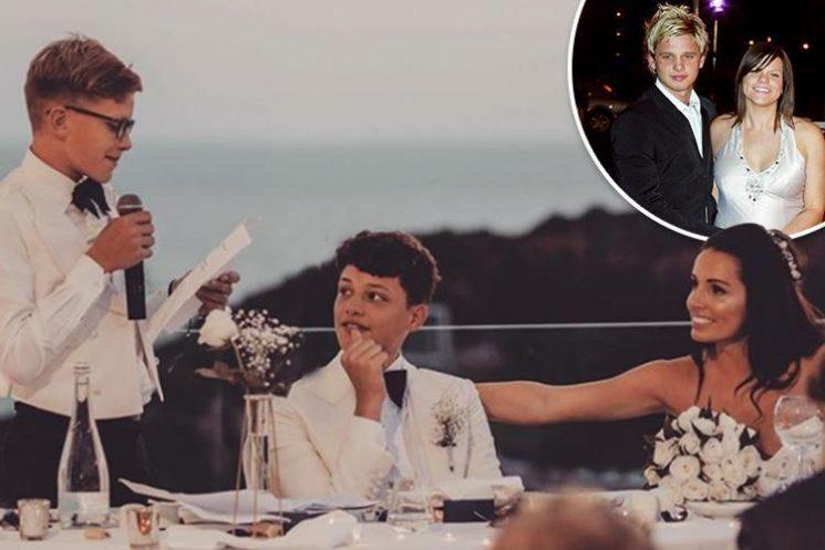 Jeff Brazier's wife Kate shares heartfelt speech by stepsons at her wedding