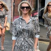 Christine McGuinness has her own Marilyn Monroe moment as she leaves hairdresser's