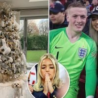 England goalie hero Jordan Pickford couldn't save his Christmas tree as his fiancee shares snap of bizarre animal decorations