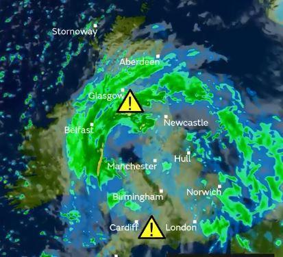 UK weather forecast: Storm Diana batters Britain as vicious 80mph winds and torrential rain cancel trains, close bridges and leave 40,000 homes without power