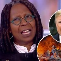 Whoopi Goldberg and 'View' Cohosts Rip Trump for Fire Tweet: 'What the Hell, Man?!'