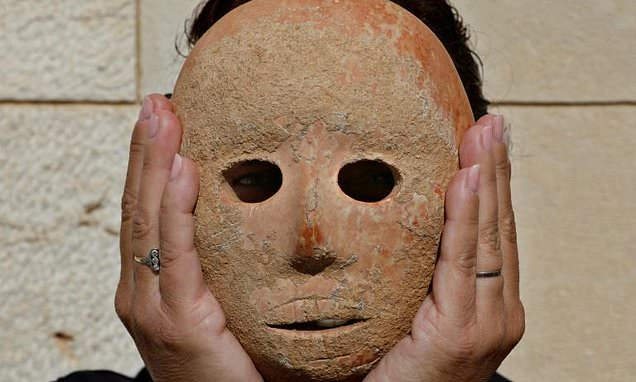 Creepy 9,000-year-old stone mask is uncovered on the West Bank