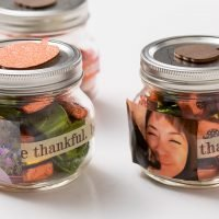 Make Thanksgiving candy jars for sweet Thanksgiving table treats