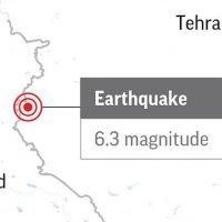 Over 170 hurt in magnitude 6.3 earthquake in western Iran