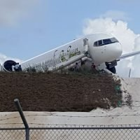 Fly Jamaica plane overshoots the runway during emergency landing, injuring 6