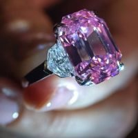 'Fancy Vivid Pink,' 18.96 carat pink diamond jewel breaks price record at auction