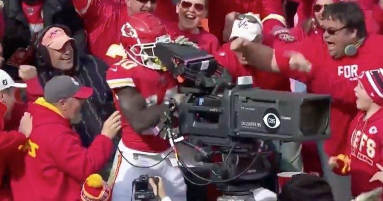 Tyreek Hill took over camera for epic celebration