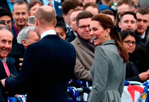 Kate Middleton steps out with Prince William after reports she was 'in tears' over Meghan Markle