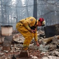 Families anxious to learn fate of hundreds missing in California fire