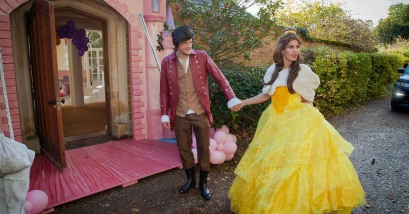 Jamie and Becky Vardy dress up for over-the-top Beauty and the Beast party