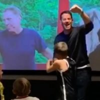 Jamie Redknapp pumps fist as he celebrates dad Harry's I'm A Celebrity victory