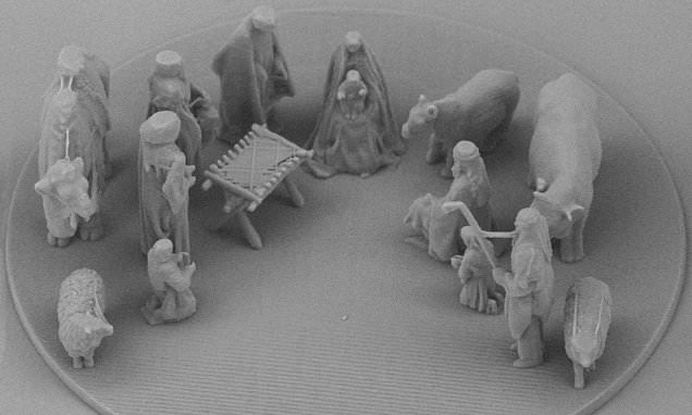 The nativity scene so tiny it is only visible by microscope