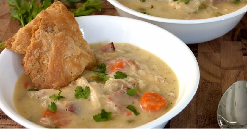 Chrissy Teigen's Chicken Pot Pie Soup Belongs in the Soup Hall of Fame