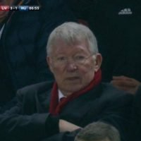 Sir Alex Ferguson looks furious in stands as Man Utd get beat at Liverpool