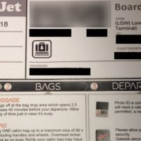 Gatwick passenger stunned at easyJet boarding pass showing advert for drone