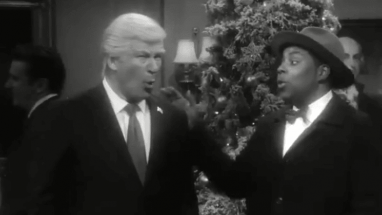 Trump lashes out at SNL following Alec Baldwin and Matt Damon Christmas skit