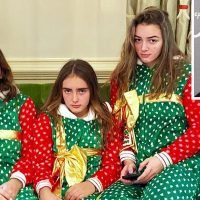 Angie Harmon Shares Holiday Photo of Her Three Daughters in Matching Christmas-Themed Onesies