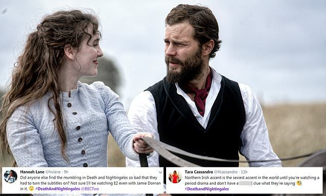 Death and Nightingales: Fans confused by Jamie Dornan's accent