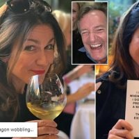 Susanna Reid enjoys glass of wine after being teetotal for two months
