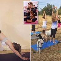 GOAT yoga craze hits Britain amid growing popularity among celebrities