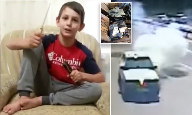 Boy, 11, vows to cut off enemies' heads in ISIS video