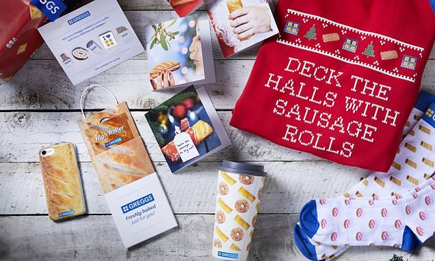 Greggs launch Christmas gift range with sausage roll themed jumpers